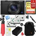 Sony Cyber-shot DSC-RX100 III 20.2 MP Digital Camera with 1 Year Extended Warranty Plus 64GB Triple Battery Bundle