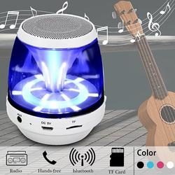 Mini Wireless Speaker Stereo speaker with LED Light + USB Cable Portable for Smartphone PC