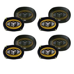 PYLE PLG69.8 6 x 9 Inch 8-WAY 500w Car Audio Stereo Coaxial Speakers (8 Pack)