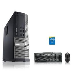 Refurbished - Dell Optiplex Desktop Computer 3.3 GHz Core i3 Tower PC, 4GB, 500GB HDD, Windows 10 Home x64, Wireless Mouse & Keyboard