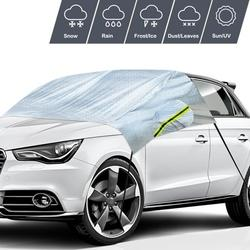 Car Windshield Snow Cover, Upgarde Heavy Duty Car Windshield Protection Cover with Reflector and Mirror Covers,Snow Ice Cover/Sun Shade Car Snow Cover for Car/Truck/SUV