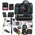 Canon EOS 6D Mark II DSLR Camera with 24-105mm f/4L II Lens (1897C009) Professional Bundle package deal ' Battery Grip + Replacement Battery (2CT) + SanDisk extreme pro 64gb SD card + MORE