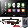 """Pioneer DMH-C5500NEX 8"""" Car Stereo Safe Driver's Bundle with Voxx Backup Camera. Modular Capacitive Digital Receiver with Apple CarPlay, Android Auto, Bluetooth, Alexa, SiriusXM Ready, Maestro Ready"""