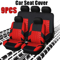 New 9PCS Universal Seat Covers for Car Full Car Seat Cover Car Cushion Case Cover Front Car Seat Cover Car Accessories Car Seats