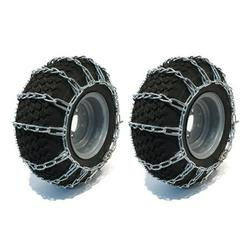 16x6.5-8 TIRE CHAINS 2 Link for John Deere F GX LX X Series Lawn Mower Tractor by The ROP Shop