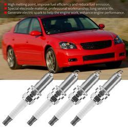 Tebru Spark Plug, Spark Plug for Nissan,22401-ED815 4PCS Car Auto Engine Spark Plugs for Nissan Altima Cube Micra Primera Tiida