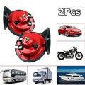 12V 120dB Loud Motorcycle Truck Car Horn,Super Loud Snail Horn,Car Electric Snail Horn,High and Low Dual Tone,Universal Whistle Electric Horn for 12V Vehicles Trucks Trains Boats Motorcycle Cars et