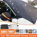 Windshield Snow Cover, Car Windshield Snow Cover with Rearview Mirror Covers & Hooks, Windshield Cover Fit for Most Cars, Trucks, SUV, Windshield Cover for Ice, Snow, Rain, Sun, Frost
