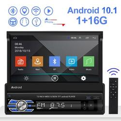 """""""1 Din 7"""""""" Android 10.1 Car Radio Autoradio Touch Screen Car Multimedia Player GPS Navigation Wifi Auto MP5 Bluetooth USB FM with 4 LED Rear View Camera"""""""
