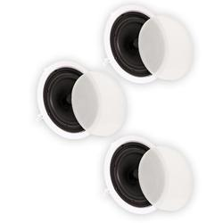 """Theater Solutions TS80C In Ceiling 8"""" Speakers Surround Sound Home Theater 3 Speaker Set"""