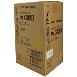 OEM Ricoh 842197 (842197) Toner Cartridge, YELLOW, 26K YIELD - for use in Ricoh MP C6503 printer, MP C8003