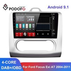 """""""Podofo Android 9.1 Car Radio 9"""""""" GPS WIFI Split Screen 2 Din Car Multimedia player Audio Player For Ford Focus 2 Mk2 2004-2011 ,not included Camera"""""""