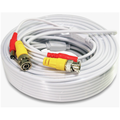 CableVantage Security Camera Cable Wire CCTV Video Power 100 FT 30M BNC RCA Cord DVR White