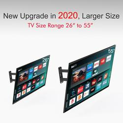TV Wall Mounts for Most 26-55 Inch Flat TV, TV Mount with VESA up to 400x400mm, Adjustable Wall Mount TV Stand Monitor up to 66 lbs, Full Motion TV Wall Mount with Swivel Articulating Dual Arms, A234
