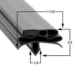 True Compatible TUC-119D-4 Door Gasket Part# (934757)