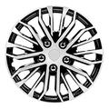 Pilot Automotive WH141-16S-B Apex Black and Silver Universal Hubcap Wheel Covers 16 Inch for Cars Fits Toyota, Volkswagen, Chevy, Chevrolet, Honda, Mazda, Dodge, Ford and Others Set of 4