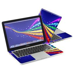 """Mightyskins Protective Skin Decal Cover for Apple MacBook Pro 13"""" with 13.3 inch screen wrap sticker skins Rainbow Twist"""