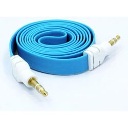 3.5mm Aux Cable for LG G8X ThinQ Phone - Adapter Car Stereo Aux-in Audio Cord Speaker Jack Wire Flat Blue G5O