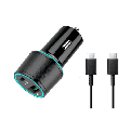 USB C Car Charger UrbanX 20W Car and Truck Charger For Oppo Reno3 Pro 5G with Power Delivery 3.0 Cigarette Lighter USB Charger - Black, Comes with USB C to USB C PD Cable 3.3FT 1M