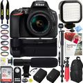 Nikon D5600 24.2MP DX-Format Digital SLR Camera with AF-P 18-55mm f/3.5-5.6G VR Lens Kit Bundle with 32GB Memory Card, Microphone, Camera Backpack, Battery and Accessories (16 Items)