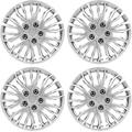 Pilot Automotive 17 Inch WH141-17S Apex Silver Universal Hubcap Wheel Covers for Cars , Set of 4 , Fits Toyota, Volkswagen, VW, Chevy, Chevrolet, Honda, Mazda, Dodge, Ford and Others