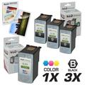 LD Canon PG-50 & CL-51 Compatible Combo Set - 3 Black PG-50 and 1 Color CL-51
