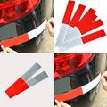 JuLam 10 PCS Car Reflective Signs Stickers Car Bright Reflective Stickers Red and White Reflective Strip Alert Strip for Big Truck