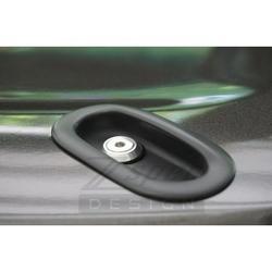 Convertible Deck Catch Fasteners, Titanium & Billet - fits: 93-96 Nissan Z32 300zx Convertible Models Red Silver