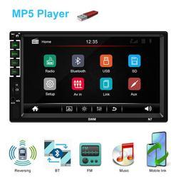 2din Car Radio MP5 Stereo Receiver Auto radio Car Stereo Audio Radio Mirror Link Support Rear Camera , Capacitive screen , with 12LED Camera