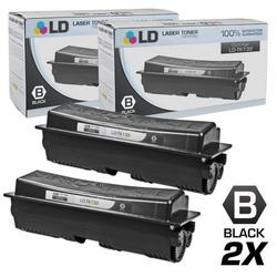 Compatible Replacements for Kyocera-Mita TK-132 Set of 2 Black Laser Toner Cartridges for use in Kyocera-Mita FS-1028mfp, FS-1128mfp, FS-1300D, and FS-1350DN s