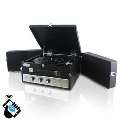 Pyle Home Retro Vintage Classic Style BT Turntable Record Player with Vinyl-to-MP3 Recording- Black