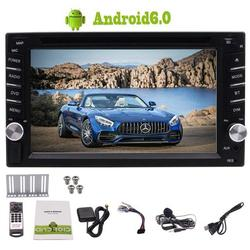 Eincar Double 2 Din Android 6.0 Car Stereo 6.2 Inch Touch Screen Head Unit Quad Core 1GB RAM 16GB ROM support GPS Navigation Bluetooth USB SD AM FM RDS Radio Mirror Link OBD2 DVR with free external