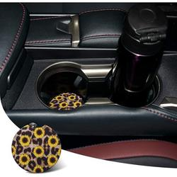 Morease Car Coasters, Car Cup Holder Coasters, 2.76 Inches Car Coasters for Cup Holders, Anti Slip Removable Universal Neoprene Drinks Absorbent, Car Coasters for Women