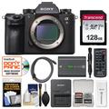 Sony Alpha A9 Wi-Fi 4K Digital Camera Body with 128GB Card + Battery + Charger + Remote + Cleaning Kit