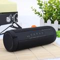 VicTsing Professional Waterproof Outdoor HIFI Column Speaker Wireless Bluetooth Speaker Subwoofer Sound Box with Flashlight Support FM Radio TF Mp3 Player Mobile Phone - Black