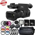 Panasonic HC-X1000 4K DCI/Ultra HD/Full HD Camcorder Advanced Package with 2 Extra Batteries Bundle
