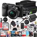 Sony Alpha a6000 Mirrorless Digital Camera 24.3MP SLR (Black) with 16-50mm Lens ILCE-6000L/B 128GB Memory Deco Gear Case Filter Kit Charger & Extra Battery Power Editing Bundle