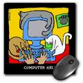 3dRose Computer Helpers, Cartoon Cats, Cats, Cat, Funny cats, Kittens. Pets, Funny Pets, Animals, Mouse Pad, 8 by 8 inches
