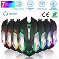 iMountek 2.4G Wireless Gaming Mouse Wireless Optical Laptop Mouse w/ USB Receiver Adjustable 2400DPI 7 Colors Changeable Lights Rechargeable USB Cordless Mice