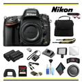 Nikon D610 DSLR Camera Advanced Bundle W/ Bag, Extra Battery, LED Light, Mic, and More - (Intl Model)