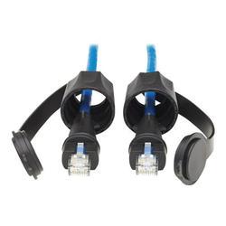 Tripp Lite N200P-003BL-IND Tripp Lite Industrial Cat6 UTP Ethernet Cable (RJ45 M/M), 100W PoE, CMR-LP, IP68, Blue, 3 ft.