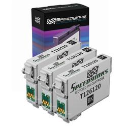 Speedy Inks - 3pk Remanufactured Replacement for Epson T126 T126120 T1261 High Capacity Black Pigment Based Ink Cartridge for use in 520, 630, 633, 635, 60, 840, Epson Stylus NX430, 435, 545, 645