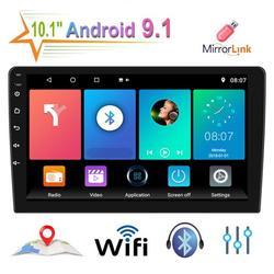 1Din touchscreen car stereo 10.1'' Andriod 9.1 Car Multimedia Player GPS Navigation Car Audio Wifi USB FM MirrorLink HD Car Radio Stereo Autoradio