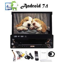 Android 7.1 OS Car CD DVD Player 7 inch Capacitive Touch Screen Single Din GPS Navigation Head Unit AM FM RDS Radio Receiver Built-in Bluetooth Wifi module Support USB SD MirrorLink