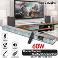 Soundbar, Wireless Sound Bar 60W 35/36 Smart Home Theater 2.0 Channel Wired and h Audio Speaker for TV PC with Coaxial/Optical/AUX/USB and Cellphone