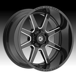 Gear Off Road 762BM Pivot Gloss Black Milled 22x12 8x180 -44mm (762BM-2228944)