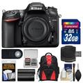 Nikon D7200 Wi-Fi Digital SLR Camera Body with 32GB Card + Backpack + Battery + Remote + Kit
