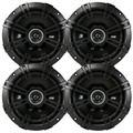 """4 x Kicker 43DSC6504 6.5"""" 240 Watt 2-Way Car Audio Coaxial Speakers (2 Pairs)"""