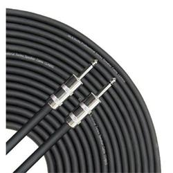 """gls audio 100 feet speaker cable 12awg patch cords - 100 ft 1/4"""" to 1/4"""" professional speaker cables black 12 gauge wire - pro 100' phono 6.3mm cord 12g - single"""