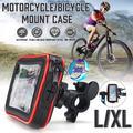 Waterproof Bicycle Handlebar Bag Mount Holder Touchscreen 360° Rotating Adjustalbe For Cell Phone GPS